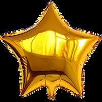 Звезда золотая, шар фольгированный 44 см