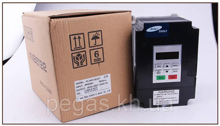 Инвертор 1.5 KW 220-250V. Частотник. Для шпинделя ЧПУ