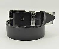 Кожаный ремень под джинсы Calvin Klein 8008-411 черный 40 мм, итальянская кожа