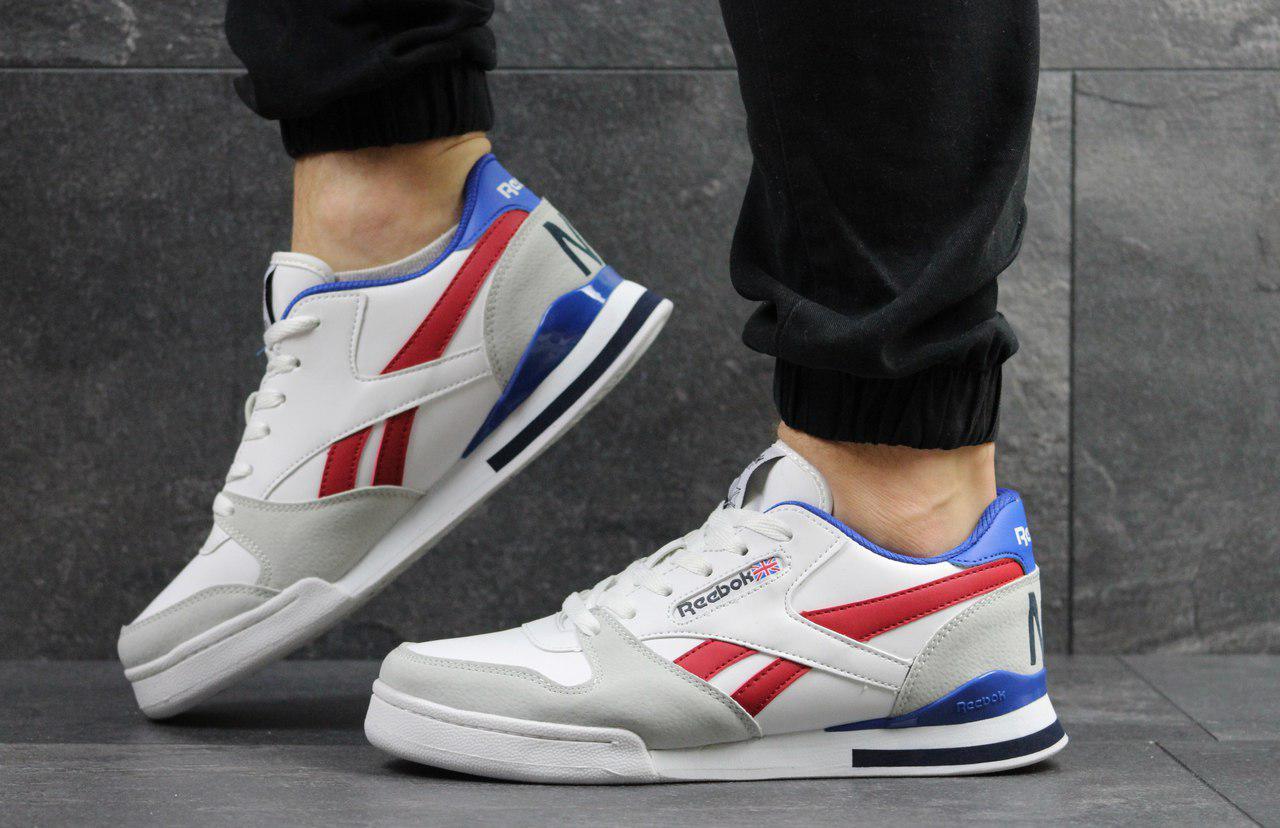 54da4f6bdff170 Мужские кроссовки Reebok Pro Ny,белые с красным,синим. - Интернет-магазин