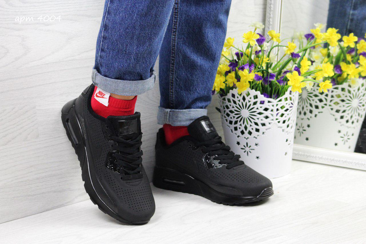 Модные кроссовки Nike Air Max Ultra Moire черные