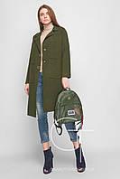 Стильное демисезонное вязаное женское пальто (графит)