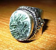 """Серебряный перстень  с натуральным серафинитом """"Маэстро"""" , размер 19,3 от студии LadyStyle.Biz, фото 1"""