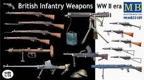 Стрелковое оружие британской пехоты WWII. 1/35 MASTER BOX 35109