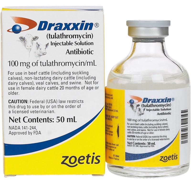 ДРАКСИН DRAXXIN инъекционный антибиотик для коров и свиней, 50 мл
