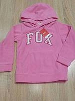 Флисовая толстовка для девочки 4, 6 лет Fox