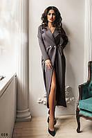 Платье вечернее высокий разрез костюмка 42,44,46,48