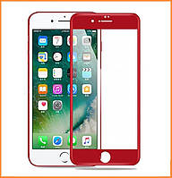 Защитное стекло 4D Full Cover для IPhone 7/8 Red (Screen Protector 0,3 мм)