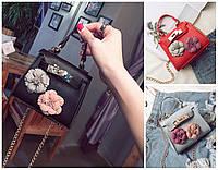 Женская сумка мини клатч с цветами детская