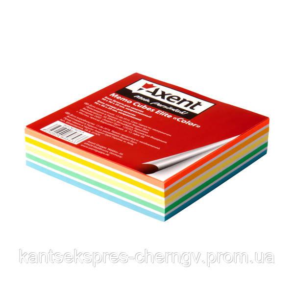 """Бумага для заметок Axent Elite """"Color"""" 8024-A 90х90х20мм, непрок"""