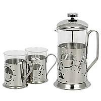 "Набор чайник и 2 стакана ""Rout"" (600 + 2х200 мл.)"