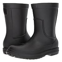 Сапоги резиновые мужские Crocs Men's AllCast Rain Boot / дождевики литые Черный, 45