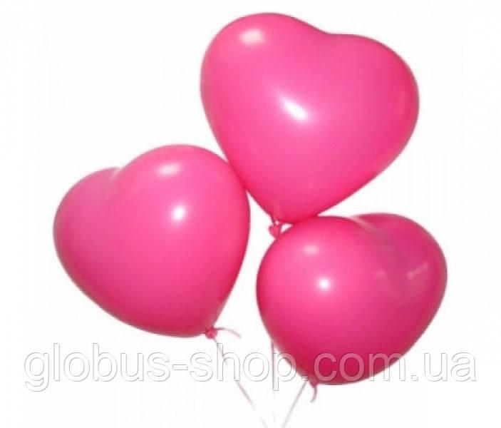 Повітряна куля, 16 см, яскраво-рожевий
