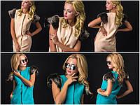 Модная женская жилетка с меховыми вставками li2018