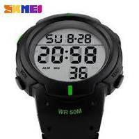 Часы спортивные Skmei Duster 1068 - Black @ Green (5 bar), фото 1