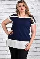 Синяя блуза 0315-3