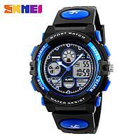 Часы спортивные Skmei Dual Time 1163 (5 bar) blue, фото 1
