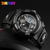 Часы спортивные Skmei Dual Time 1163 (5 bar) black, фото 1