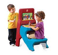 Step 2 Детский столик для рисования с лавочкой и мольбертом
