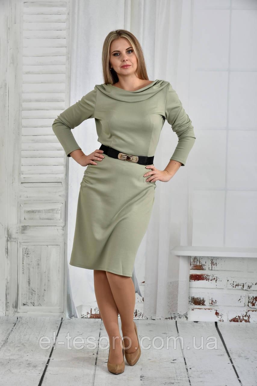 Платье шалфей 0399-2
