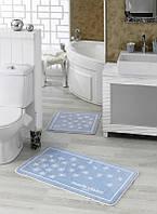 Набор ковриков для ванной Marie Сlaire Breeze голубой 57*100 + 57*57