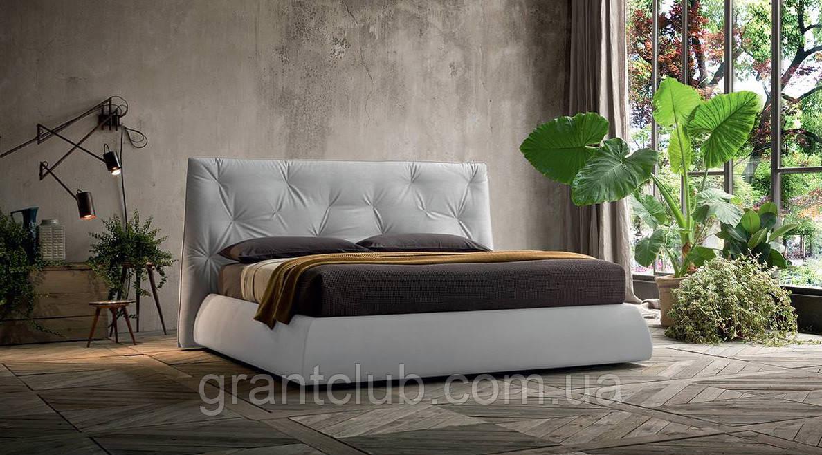 Современная кровать в ткани с мягким высоким изголовьем LENNY фабрика Felis (Италия)