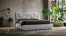 Сучасна ліжко в тканини з м'яким високим узголів'ям LENNY фабрика Felis (Італія)