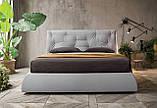 Современная кровать в ткани с мягким высоким изголовьем LENNY фабрика Felis (Италия), фото 2