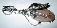 Серебряный кулон  с  пейзажной яшмой, фото 1