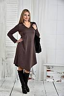 Коричневое платье 0437-2