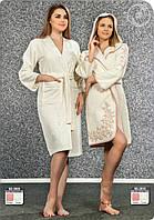 Женский бамбуковый халат с капюшоном 3910 NUSA