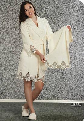 Банный женский бамбуковый комплект 3875 NUŞA