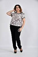 Красивая бежевая блузка 0527-1