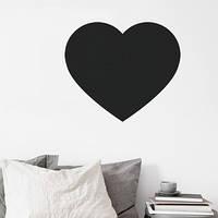Наклейка на стену для рисования «Сердце» (40см)