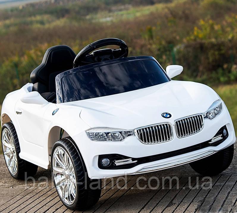Электромобиль детский аккумуляторный FL 1088 YELLOW, BMW, белый