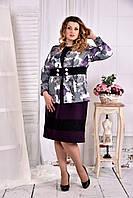 Жакет с цветами и гипюром 0577-2-1 (на платье 0577-2-2)