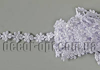 Кружево макраме цветочек белый 13мм/9м