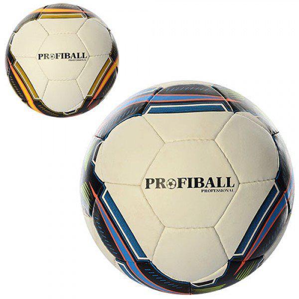 Мяч Футбольный 4-х Слойный Кожа PU Profi (2500-18AB) — в Категории