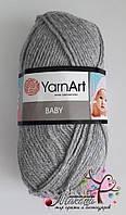 Детская пряжа  Бэби YarnАrt, 195, серый