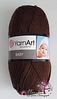 Детская пряжа  Бэби YarnАrt, 1182, коричневый
