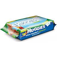 Влажные салфетки Huggies Ultra Comfort Pure 64 шт