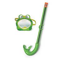 Набор для плавания (маска + трубка) Intex 55940, набор для подводного плавания для детей 3-8 лет