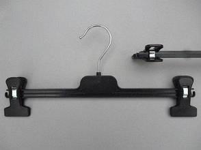 Вешалки, плечики пластмассовые для брюк и юбок черные, 30 см тремпеля, фото 2