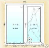Двустворчатые поворотно-откидные окна