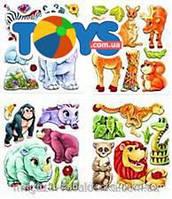 Детские объемные наклейки «Зверята», S-307