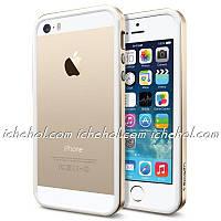 Бампер SGP Neo Hybrid EX Slim White/Gold для iPhone 4/4S
