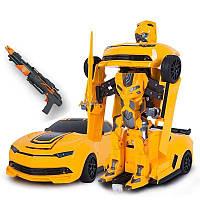 Автомодель-трансформер на р/у красный, желтый