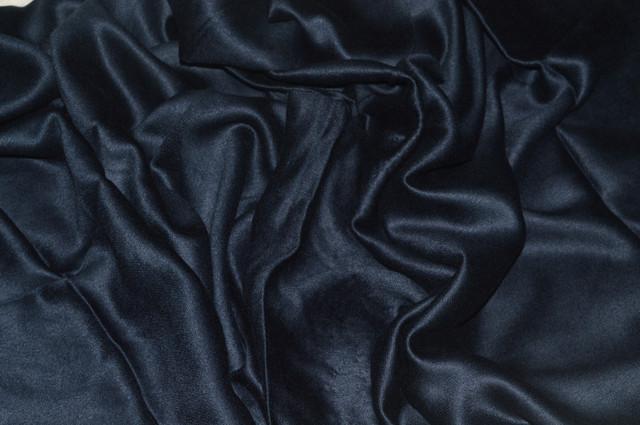 Палантин из кашемира однотонный темно-синий Фото 3