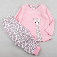Пижама для девочки, детская флисовая пижама, размер 2-3 года (98 см)