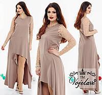 Нарядное платье CLEVER +гипюр (48-54) разные цвета